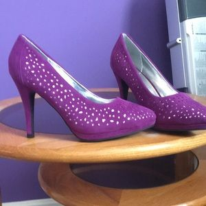 797d93047d6 ... shoes with spikes Purple with silver accent High Heels ...